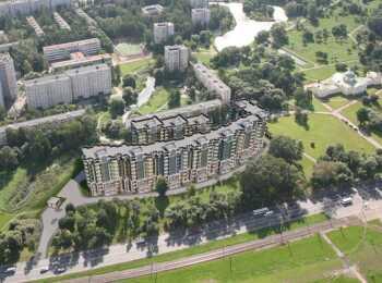Вид сверху на ЖК Шереметьевский дворец